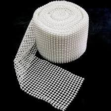 pearl ribbon pearl mesh wrap ribbon white 4 1 2 inch 10 yards