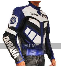 sport biker jacket r1 series blue biker leather jacket