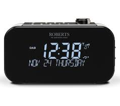 buy roberts ortus 3 dab fm clock radio black free delivery