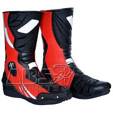 mens motorcycle racing boots moto leather biker boots abs bikers