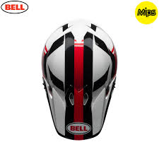 bell helmets motocross 2018 bell mx 9 mips helmet marauder white black red