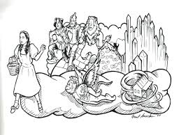 Coloring Pages Wizard Of Oz Wizard Of Oz Us Tour Coloring In Wizard Of Oz Coloring Pages