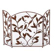 decorating flat fireplace screen with doors with new model design