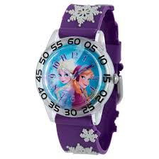 disney girls u0027 frozen anna elsa watch purple target