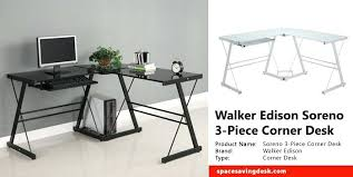 walker edison urban blend computer desk walker edison desk urban blend charcoal desk with storage walker