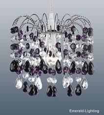 Purple Pendant Light Shade Barcelona Plum Purple Crystal Waterfall Cascade Chandelier Pendant