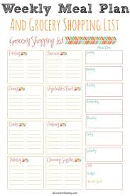 printable meal planner template best 25 weekly meal planner ideas only on pinterest meal print out your free weekly meal planner and grocery shopping list plus spend less