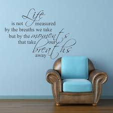 life is not measured by breaths vinyl wall decal office wall life is not measured by breaths vinyl wall decal office wall stickers quotes sayings 40