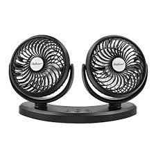 usb powered car fan amazon com skygenius dual head usb powered min desk fan for car