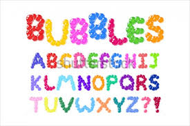 19 bubble letters psd vector download