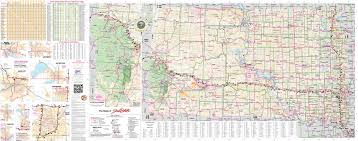 Watertown Wisconsin Map by Large Detailed Tourist Map Of South Dakota With Cities Towns And
