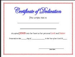 church certificates