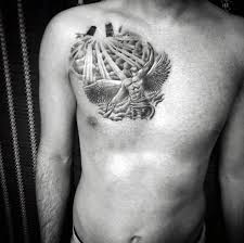 25 clouds chest tattoos
