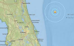 Florida West Coast Beaches Map by Earthquake Hits Off Coast Of Daytona Beach Florida Miami Herald