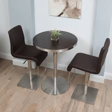 36 Inch Round Kitchen Table by Matrix 26 36 Inch Adjustable Height Round Espresso Wood Melamine