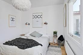 Scandinavia Bedroom Furniture Black White Decorating Ideas In Scandinavian Style To Make Small