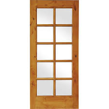 Glass Interior Doors Home Depot by Krosswood Doors 36 In X 80 In Knotty Alder 10 Lite Low E