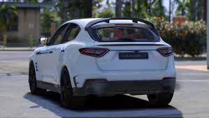 levante maserati white maserati levante mansory add on replace gta5 mods com