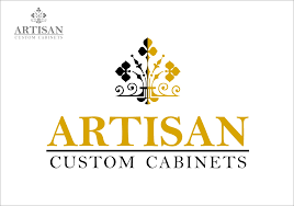 creative logo design for artisan custom cabinets hiretheworld