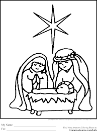 coloring nativity scene coloring pages