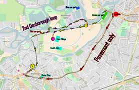 Map Run Route by The Asics Weybridge Sports 10k Run U2013 Cheer On The Runners In This