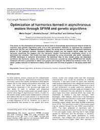 optimization of harmonics formed in asynchronous motors through