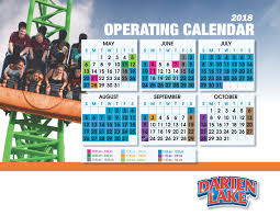 Six Flags Schedule Darien Lake Park Hours