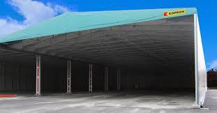capannone in pvc usato capannoni mobili in pvc kopron per plastipol