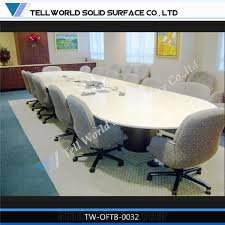 Boardroom Meeting Table Modern Artificial Marble Solid Surface Office Boardroom Meeting