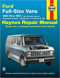 car service manuals pdf 1999 ford econoline e350 instrument cluster ford full size vans 1969 1991 haynes repair manual haynes