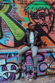 free images man road male guy color sitting graffiti man road street male guy color sitting graffiti street art art illustration infrastructure mural african american