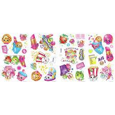 shopkins peel u0026 stick wall decals toys