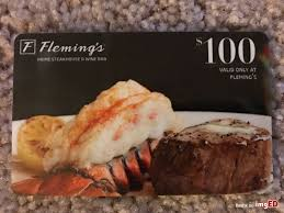 fleming s gift card fleming s steak house gift card 100 image on imged