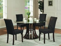Endearing Illustration Artistic And Unique Round Glass Top - Black glass dining room sets