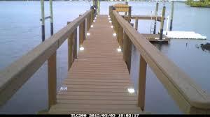 solar led dock lights lake lite solar dock lights time lapse youtube