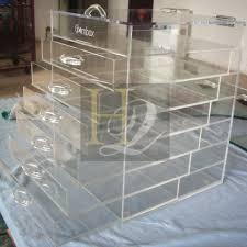 factory sale 3 tiers clear acrylic shelf acrylic display cabinet