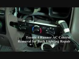 toyota 4runner repair toyota 4 runner ac panel removal