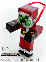 diy minecraft creeper santa ornament kerryannmorgan