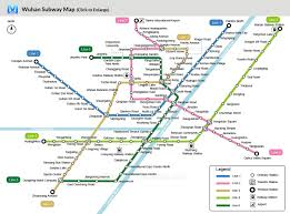 Subway Station Map by China Wuhan Map City Layout Metro Lines