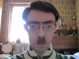 Meme Moustache - create meme hitler is sitting at the computer hitler is sitting at