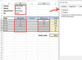 Excel Timesheet Template With Formulas How To Create A Simple Excel Timesheet A Visual Guide