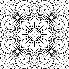beautiful mandala coloring pages mandala coloring page stock vector illustration of floral 62432760