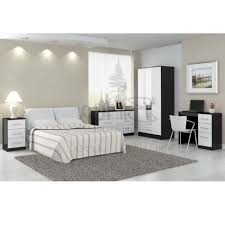 Black And Mirrored Bedroom Furniture Bedroom Furniture Sets White Furniture Mirrored Bedroom