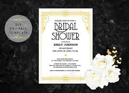 bridal shower invitation template bridal shower invitation template diy great gatsby bridal