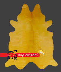 brazilian cowhide rug dyed mustard yellow cowhide rugs buycowhides
