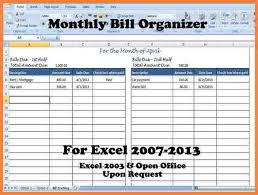 How To A Spreadsheet For Monthly Bills 6 Monthly Bill Tracker Spreadsheet Budget Spreadsheet