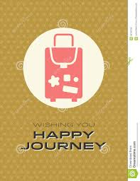 Wishing You A Very Retro by Happy Journey Card Stock Vector Image Of Brown Illustration