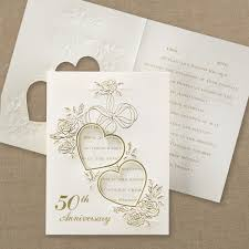 50th anniversary photo invitations parties