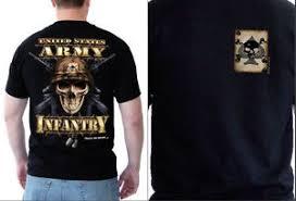 themed t shirts us army infantry skull themed t shirts s m l xl xxxl