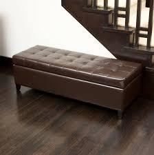 sofa bedroom storage bench storage ottoman with tray blue